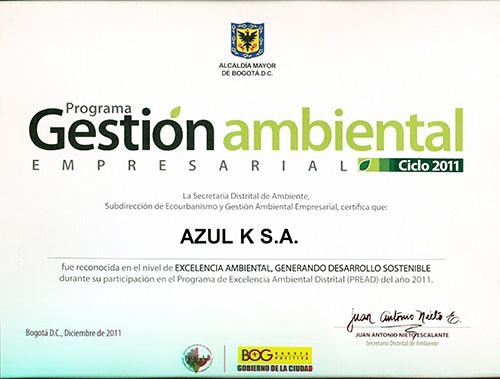 Excelencia ambiental - Desarrollo Sostenible 2011